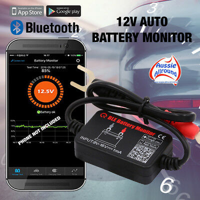 12V Car Battery Monitor via Bluetooth 4.0 Voltage Meter Tester Phone Auto Alarm