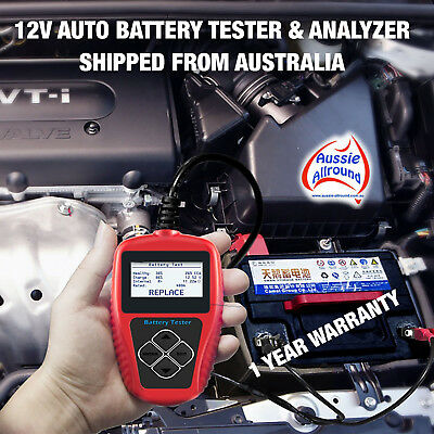 12V Auto Battery Tester Analyzer Tool LCD Car Vehicle GEL AGM EFB 100-2000 CCA