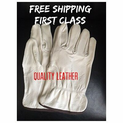 Mens Cowhide Leather Work Gloves-Large