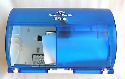 Lot of 2 Georgia Pacific Blue Sky Double Roll Tissue Dispenser 2 Toilet Paper