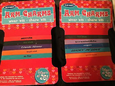 2 Packs of Old Navy Arm Charms (5/pack)! Each has a different saying on it! CUTE