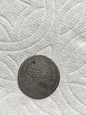 1704 Germany 15 kreuzer silver coin rare