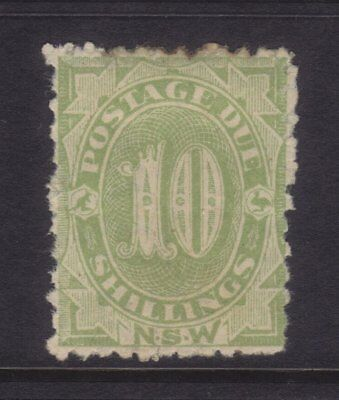 NSW;10/- Postage Due Perf 12x10,Mint.Sg D9a,BW ND36,cv $1250 **RARE**