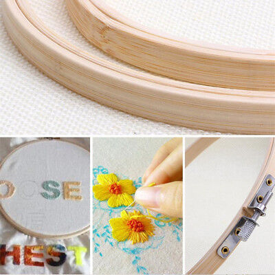 Hot ! 13cm/15cm/17cm/20cm Bamboo Cross Stitch Embroidery Hook Ring Sewing Tool