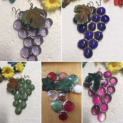 Stained Glass Suncatcher Grape Cluster
