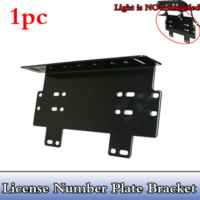 Number Licence Plate Holder Mount Bracket Car Led Driving Light Bar Lamp Frame
