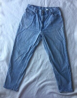 Vintage Levis 550 relaxed fit tapered leg blue denim jeans 14 Mis S short