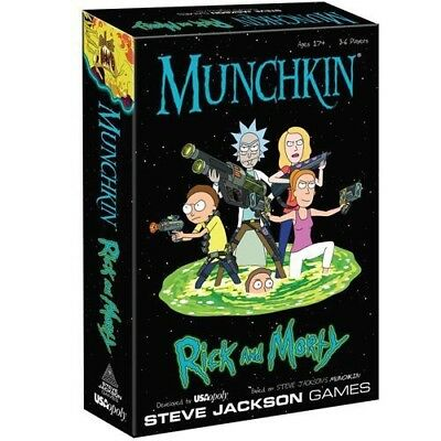 OUT NOW* Rick and Morty Munchkin Board Game