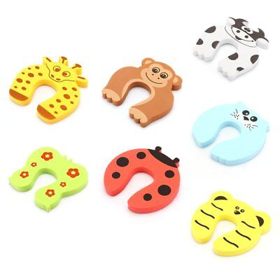 5pcs Baby Safety Door Stop Finger Pinch Guard Lock Jammer Stopper Protector