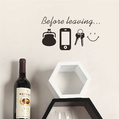 DIY Home Decor Wall Stickers Family Letter Removable Vinyl Decal Art Mural