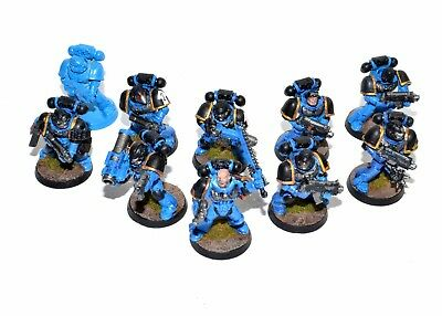 Warhammer 40K Space Marines Tactical Squad - Painted, Based