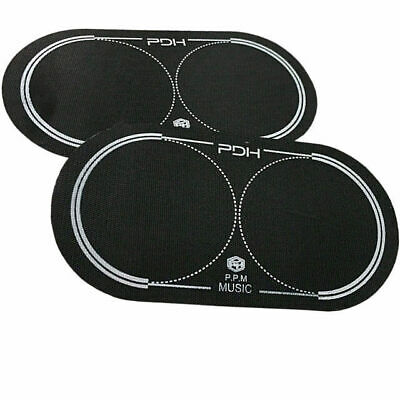 PDH Twin pack  Black Nylon Double Bass Drum Beater Patch Protector