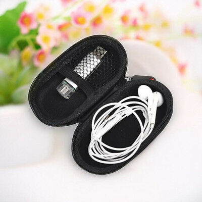 Black Storage Bag Hard Hold Case For Earphone Headphone Earbuds Mp3 USB Cable