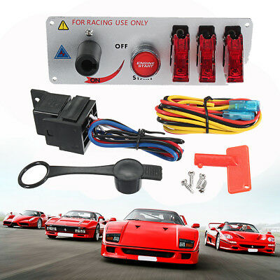 Racing Toggle Switch Panel LED Push Button Engine Start Battery CutOff Isolator