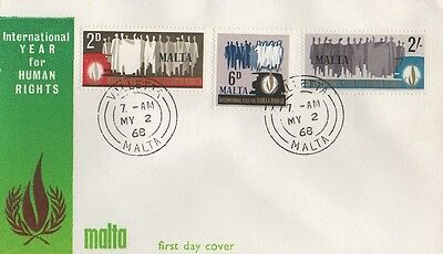1968 Malta International Year From Human Rights First Day Cover Fdc