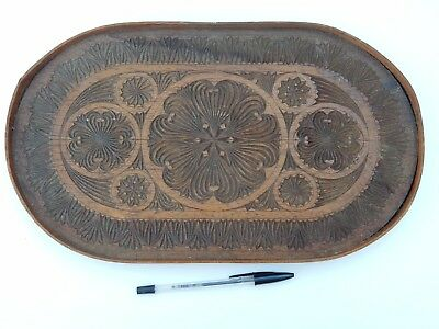 Naive Country Woodwork Tray  Circa 1900   Could Mount As Artwork Treen