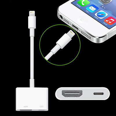 1X Lightning to Digital AV HDMI Cable Adapter Converter For iphone 6S/7Plus/Ipad
