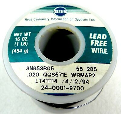 KESTER LEAD FREE Sn/Sb 95/05, DIA 0.5mm HIGHLY RELIABLE SURFACE MOUNT SOLDERING