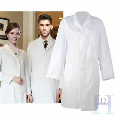 New White Doctors Medical Coat Lab Laboratory Hygiene Food Industry Warehouse