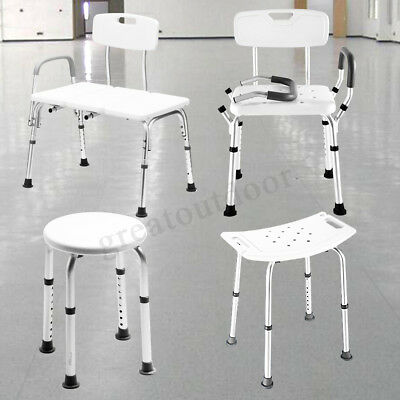 Shower Chair Bath Seat Adjustable Medical Safety Aluminum Stool Bench Seating AU