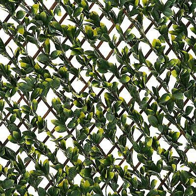 Artificial Leaf Hedge Screening Garden Expanding Willow Trellis Privacy Screen
