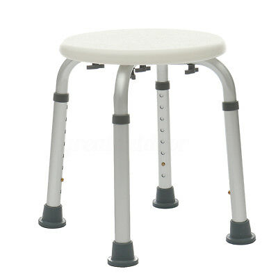 Adjustable Medical Round Shower Chair Bathtub Bench Bath Seat Aid Stool Seating