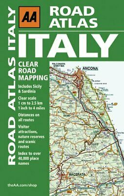 Road Atlas Italy (Aa Road Atlas) by AA Publishing Paperback Book The Cheap Fast