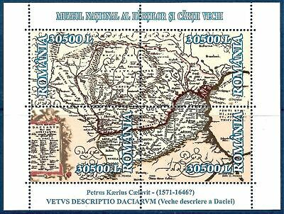 Romania  2003 Dacia Maps Dacian Kingdom Cartography Books Heritage History MNH