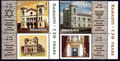 Romania 2013 Jewish Temple Synagogue Heritage Building Architecture 2v,lbs MNH/3