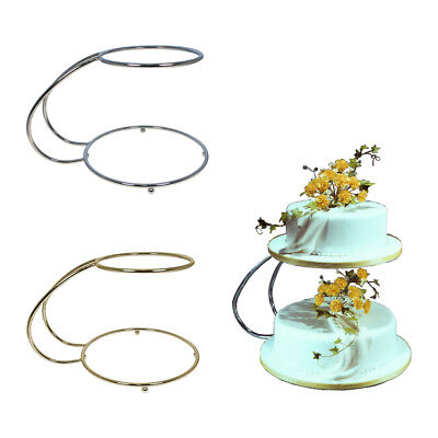 """PME """" C """" Shape Plated Metal 2 Tier Party Wedding Stand Support for Cake Snacks"""