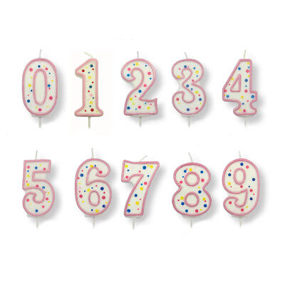 PME Large Pink Number Birthday Candle Cake Pick Celebration Party Decoration