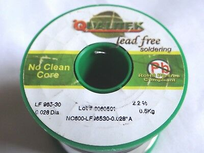 QUALITEK LEAD FREE SOLDER WIRE Alloy-96.5 Sn0.3 Ag/.05 Cu 0.71mm  **AUDIOPHILE**