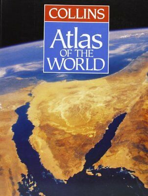Collins Atlas of the World by Jones, Moira Hardback Book The Cheap Fast Free
