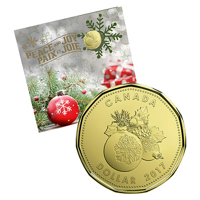 2017 HOLIDAY 5 COIN GIFT SET- $2, $1, 25¢, 10¢, and 5¢ - Royal Canadian Mint
