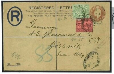 DBG129 1906 Late Use 6d Jubilee Mixed Reigns Registered/Gossnitz