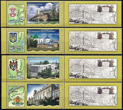 Romania 2010 Danube Building Fortress/Theatre/University Coat of Arms Maps MNH