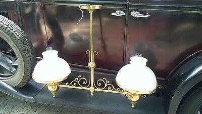 Victorian Double Gone With The Wind Ornate  Ceiling Fixture Lamp Rare Decor!