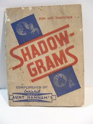 Baur's Aunt Hannah's Bread Shadow-Grams by Prince Hara Compliments Pamphlet