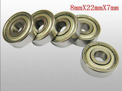 20x Bearing Steel 608zz Deep Groove Ball Bearing For Skateboard Scooter-8x22x7mm
