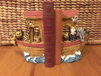 Dicksons Noah's Ark Bookends with Hanging Lion and Monkey VGUC -- Beautiful!!!!