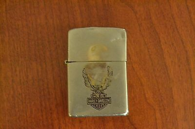 ZIPPO Lighter, Harley Davidson Cycles Eagle, Chrome, 1979, M72