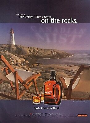 2003 Canadian Mist Whiskey Advertisement--Peggy's Cove Lighthouse, Nova Scotia