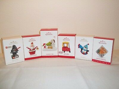 Hallmark Keepsake Ornaments Lot of 6 New in Box