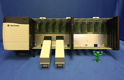 Allen Bradley 1756 Controllogix DC Power Supply with 10 Slot Chassis & 2 Spacers