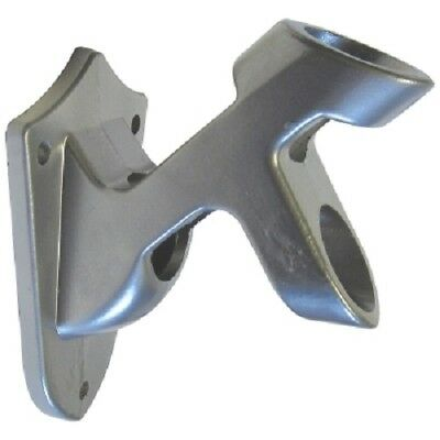 """Silver Flagpole Bracket 2 Position Aluminum Wall Mount fits 1"""" Pole with screws"""
