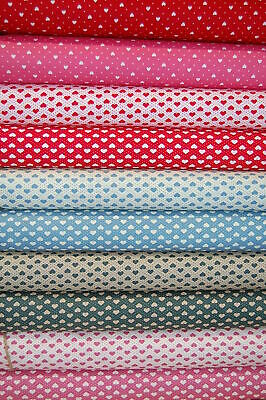 Rose & Hubble Love Hearts 100% Cotton Poplin Fabric by Fat Quarter/M* See Desc