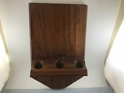 Judd's Very Nice Dunhill Wooden 3 Pipe Wall Hanging Pipe Rack