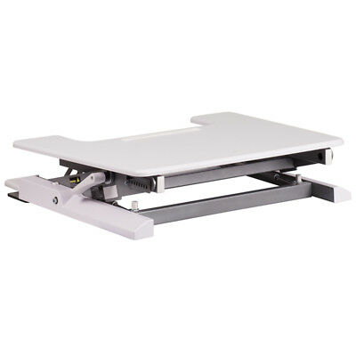 28.25''w White Sit / Stand Height Adjustable Desk With Height Lock Feature