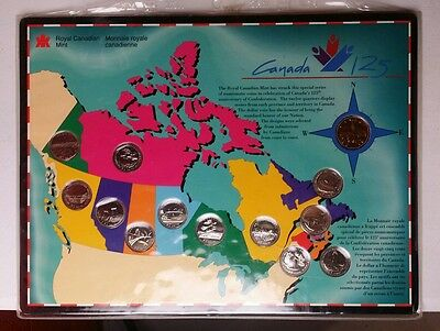 Royal Canadian Mint 125th Anniversary of Confederation Commemorative Coin Set