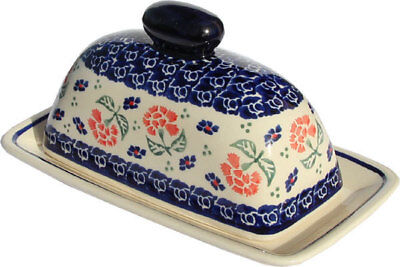 Polish Pottery Butter Dish from Zaklady Boleslawiec Polish 1377-963
